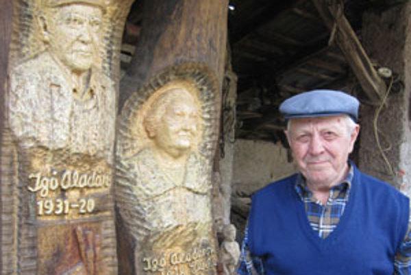 K umeleckému spracovaniu dreva Aladára Igóa priviedla chuť a láska k drevu.