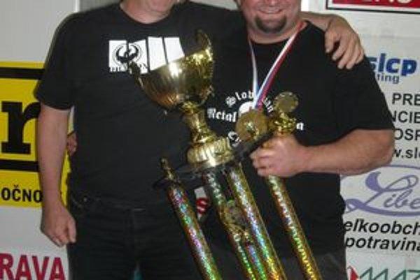 Silák Peter Mlynarčík (vpravo) z Lučenca má za sebou najúspešnejšiu sezónu vo svojej športovej kariére.
