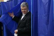 Petro Porošenko v deň prezidentských volieb.