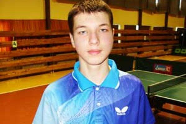 Úspešný lučenecký stolný tenista Ingemar Péter.