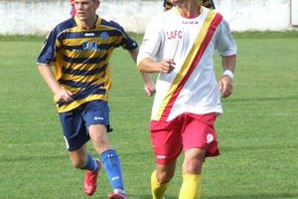 V drese LAFC Lučenec sa predstavila aj staronová posila Martin Hloušek (vpravo).