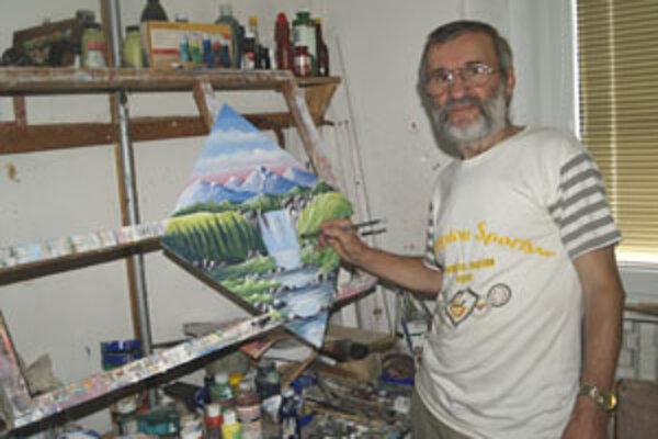 Jozef Gondek rád chodí maľovať do prírody.