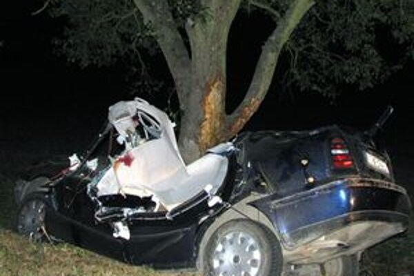 Vodič zomrel na mieste nehody, jeho spolujazdec v nemocnici.