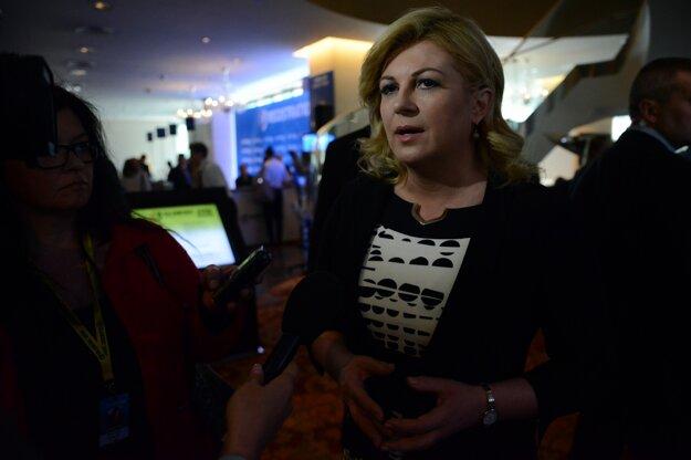 Chorvátska prezidentka Kolinda Grabarová Kitarovićová.