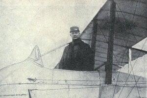 M.R. Štefánik ako pilot francúzskeho letectva.