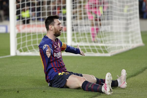 Lionel Messi v zápase FC Barcelona - FC Liverpool, semifinále Ligy majstrov 2018/2019.