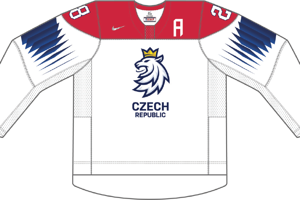 Dres Česka určený pre zápasy, v ktorých je napísané ako domáci tím.