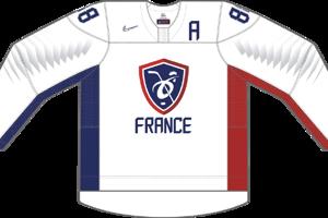 Dres Francúzska určený pre zápasy, v ktorých je napísané ako domáci tím.