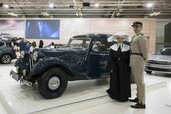Veterán Citröen Traction Avant na 29. ročníku medzinárodného salónu automobilov Autosalón.
