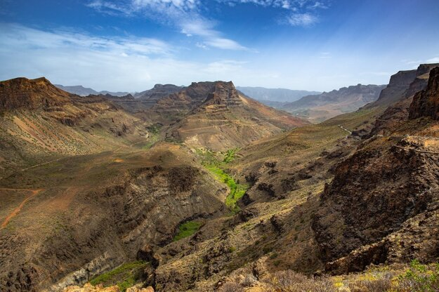 Vnútrozemie Gran Canarie je rozmanité
