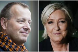 Boris Kollár a Marine Le Penová.
