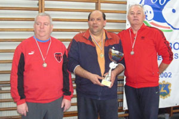 Najúspešnejší trojlístok v kategórii mužov (zľava): Gábor Nagy, Ferenc Robáczky a Ondrej Garaj.