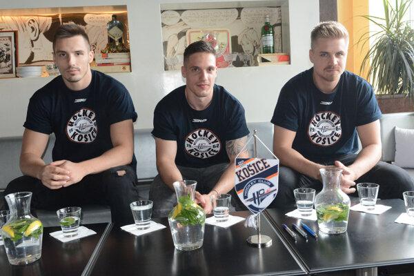 Nové košické posily, zľava Branislav Rapáč, Juraj Bezúch a Martin Belluš.