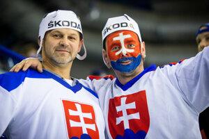 Fanúšikovia počas zápasu Nemecko - Slovensko na MS v hokeji 2019.