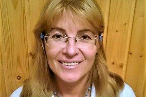Lívia Muntagová z Iniciatívy martinských učiteľov.