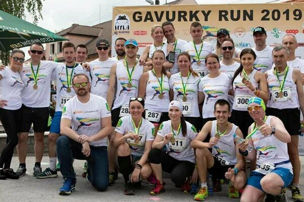 Domáci dobronivskí bežci počas Gavurky Run 2019