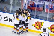 Nemecko počas MS v hokeji 2019.