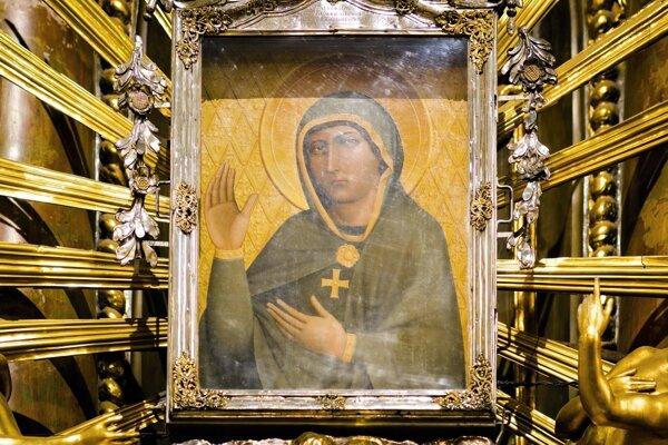 Slziaci obraz Panny Márie v Bazilike sv. Mikuláša