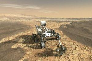 Vizualizácia roveru Mars 2020.