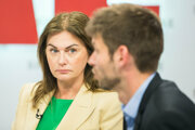 Monika Beňová diskutuje o výsledkoch eurovolieb.