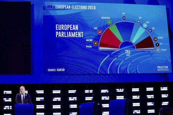 Europarlament zverejnil prvý odhad výsledkov volieb.