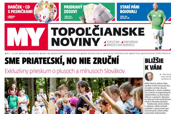 df9f09cbe Vyšlo nové číslo MY Topoľčianskych novín - SME | MY Topoľčany