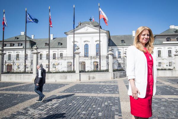 Zvolená prezidentka Zuzana Čaputová.