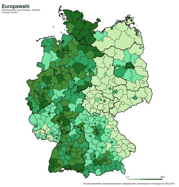 Eurovoľby 2019: Takto volili ľudia v Nemecku stranu Zelených