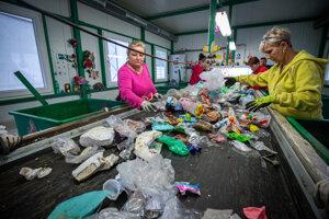 Dotrieďovacia linka odpadu