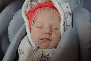 Nela Huseková (3420 g, 49 cm) sa narodila 18. mája Helene a Šimonovi z Púchova.
