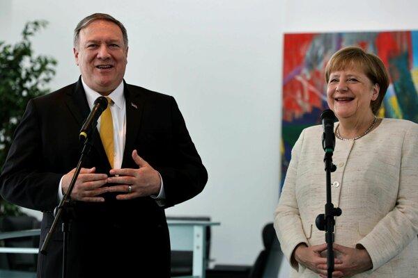 Americký minister zahraničných vecí Pompeo sa v Berlíne stretol aj s kancelárkou Angelou Merkelovou.