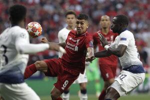 Roberto Firmino vo finále Ligy majstrov 2018/2019 Liverpool - Tottenham.