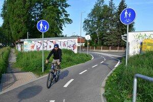 Jedna z najnovších cyklotrás v Poprade.