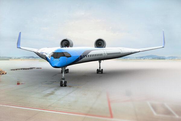 Vizualizácia lietadla Flying-V.