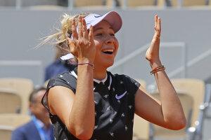 Amanda Anisimová na Roland Garros 2019.