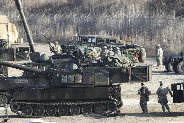 Spoločné cvičenie amerických a juhokórejských jednotiek.