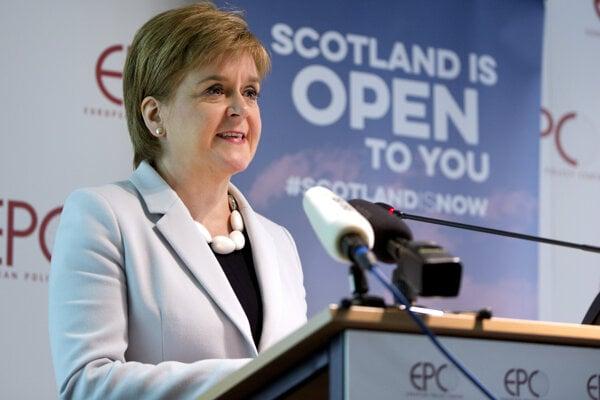 Škótska premiérka Nicola Sturgeonová v Bruseli.