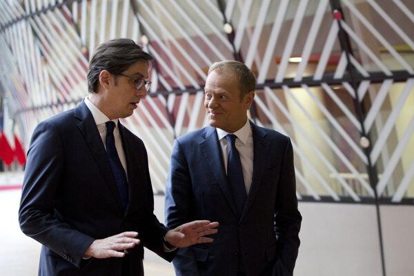 Severomacedónsky prezident Stevo Pendarovski sa stretol s Donaldom Tuskom.
