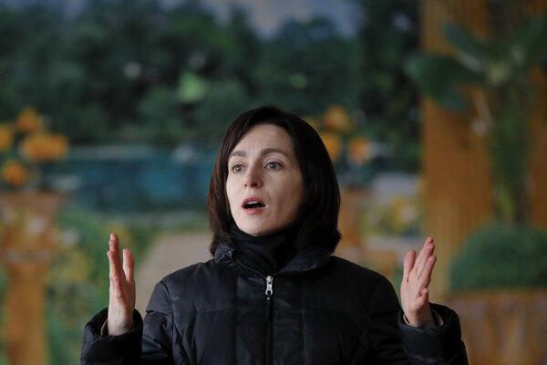 Moldavská premiérka Maia Sanduová.