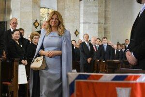 Prezidentka SR Zuzana Čaputová počas ekumenickej bohoslužby Te Deum v katedrále sv. Martina v rámci svojej inaugurácie.