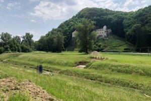 Úsek pod kláštorom Veľká Skalka.