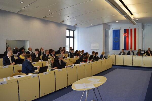 Zasadnutie mestského zastupiteľstva v Prešove.