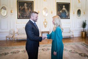 Prezidentka Zuzana Čaputová prijala predsedu vlády Petra Pellegriniho v Prezidentskom paláci.
