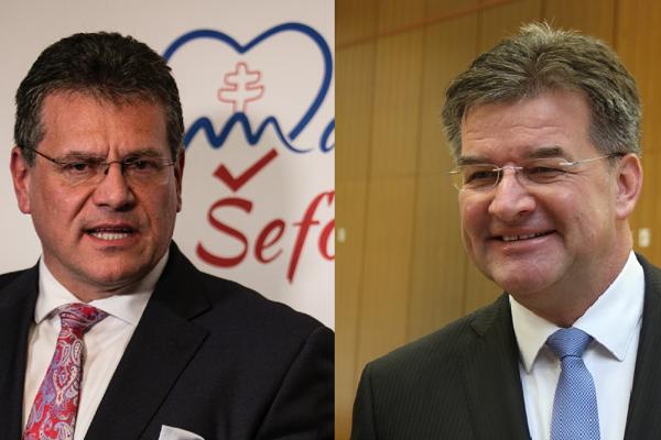 Maroš Šefčovič a Miroslav Lajčák.