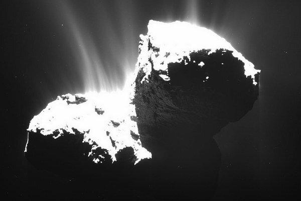 Kométa 67P/ČurjumovGerasimenko.