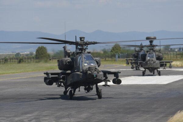 Americké vrtuľníky v Piešťanoch 18. júna 2019.