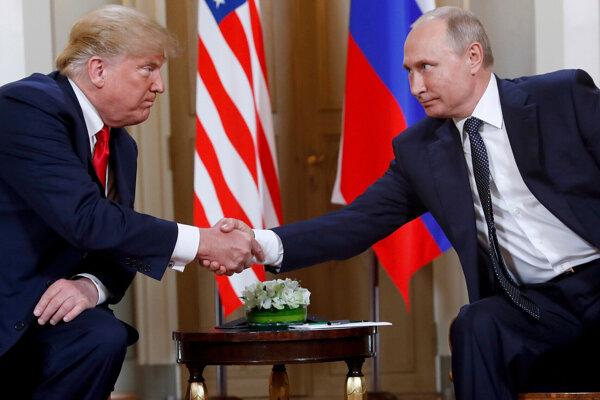 Americký prezideDoland Trump a Vladimir Putin.