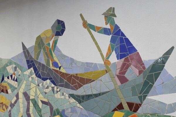"""Výtvarníčka získala vďaka svojim mozaikám prívlastok """"mozaiková lady""""."""