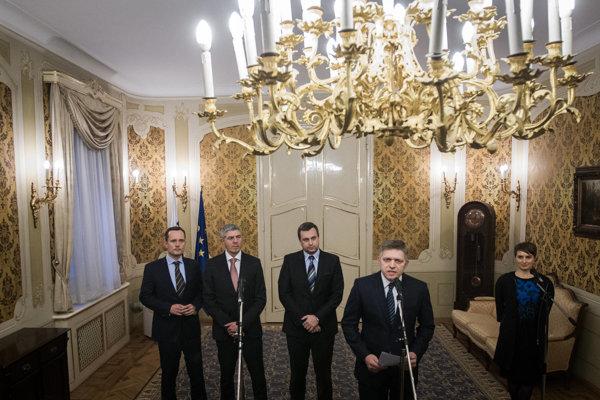 Robert Fico oznámil rozdelenie ministerstiev v novej vláde.