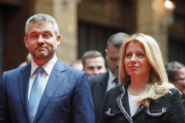 Predseda vlády Peter Pellegrini a prezidentka Zuzana Čaputová.